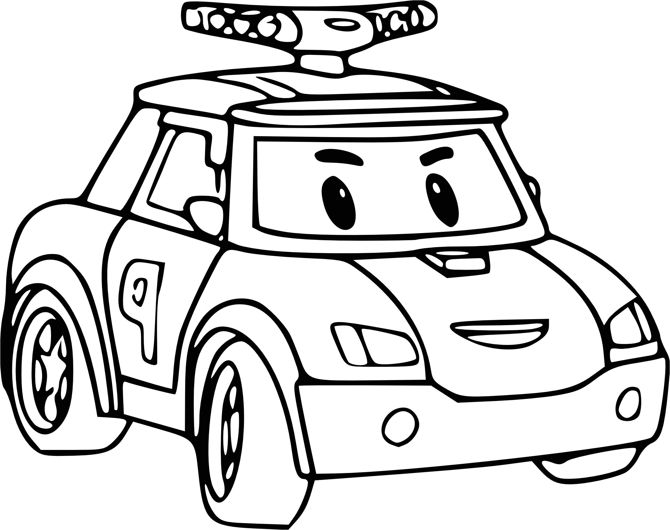 Robocar Poli Drawing