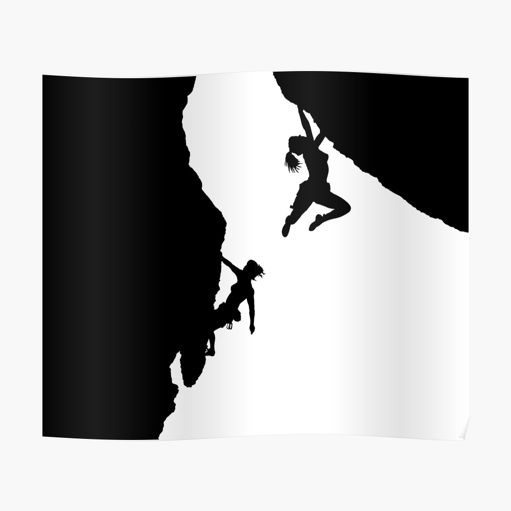 1000x1000 Women Rock Climbing Posters