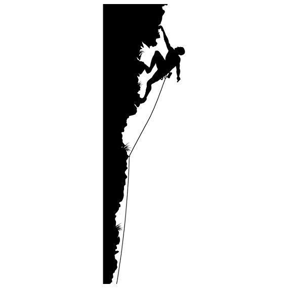 569x569 Rock Climbing Wall Decal Sticker