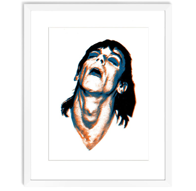 794x772 iggy pop rock n roll decor portrait painting portrait print etsy