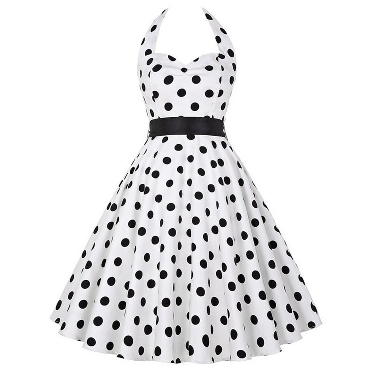 1500x1500 Kaured Stylish Retro Polka Dot Vintage Pin Up Rockabilly