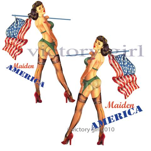 480x480 Vinyl Decals Tagged Vintage Pin Up Decal Victory Girl