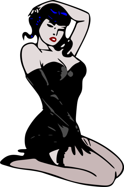 508x767 Collection Of Free Pinup Drawing Rockabilly Girl Download On Ui Ex