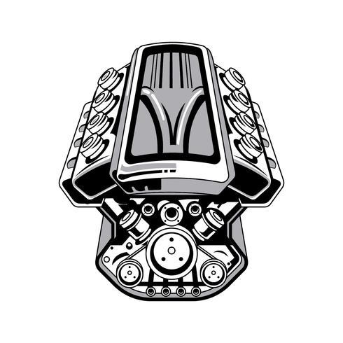 490x490 Hot Rod Engine Drawing