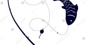 367x195 Bent Fishing Rod Drawing Vector Archives