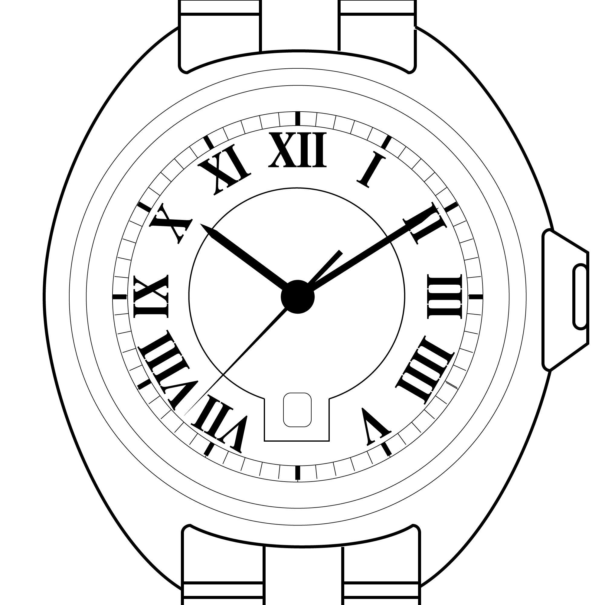 Rolex Watch Drawing
