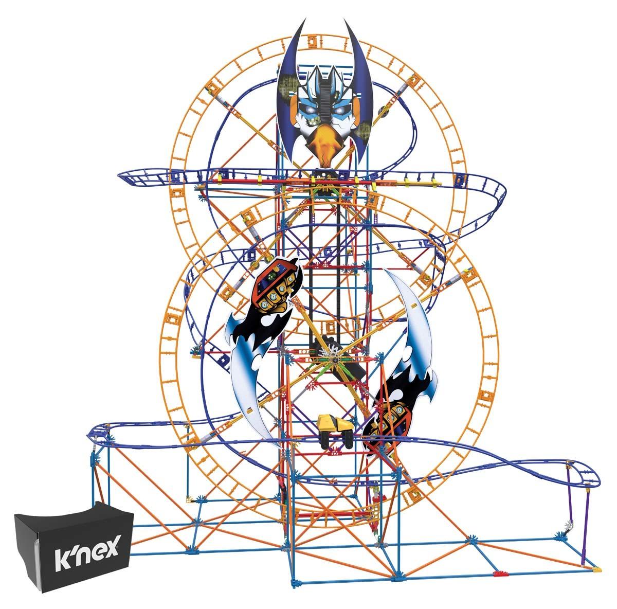 1200x1184 K'nex Thrill Rides Bionic Blast Roller Coaster Building Set K'nex