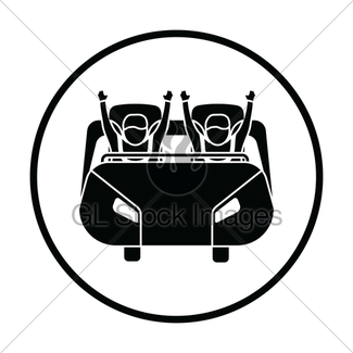 325x325 Roller Coaster Cart Icon Gl Stock Images