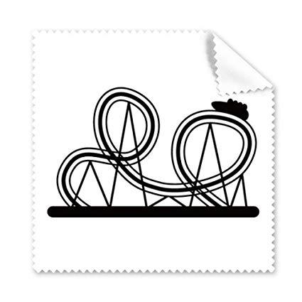 425x425 Black Roller Coaster Amusement Park Silhouette