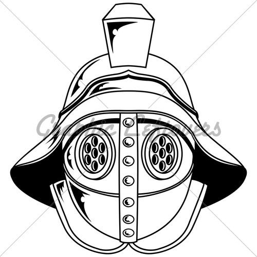 Roman Helmet Drawing