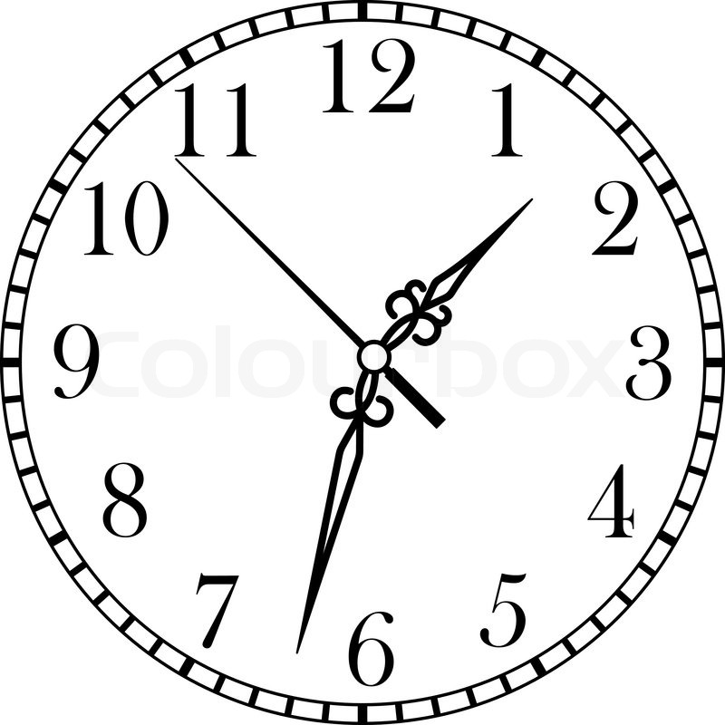 800x800 Dainty Line Drawing Of A Round Dial Stock Vector Colourbox