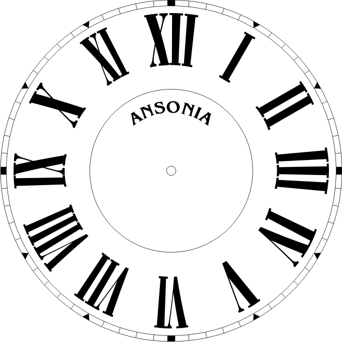 680x680 Clock Drawing Roman For Free Download