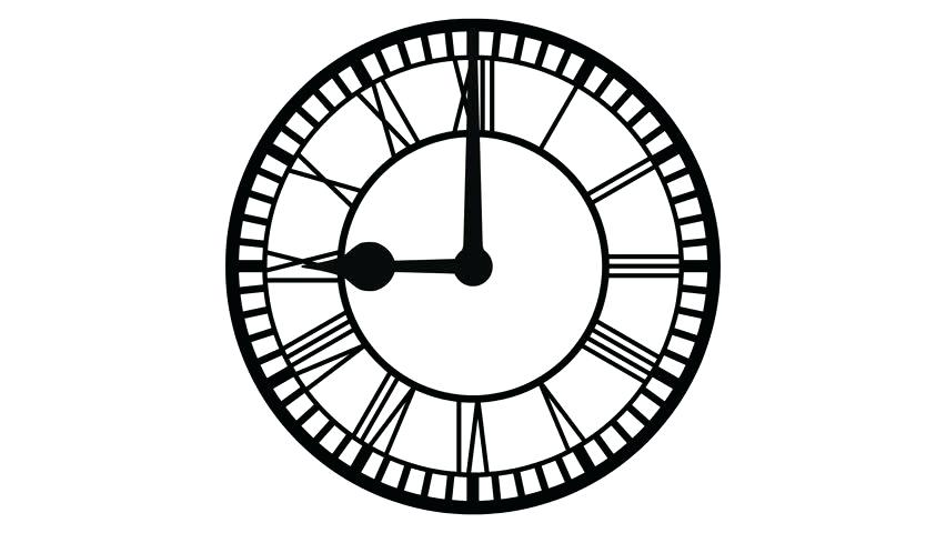 852x480 Roman Number Clock Numeral Openbrief