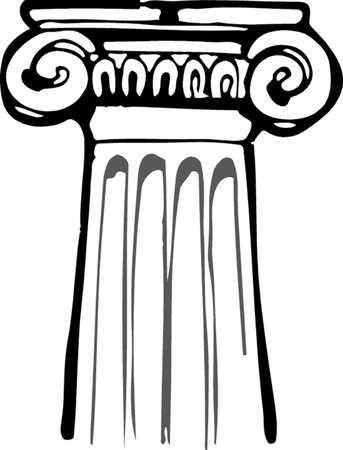 Roman Pillars Drawing