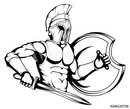 500x417 roman or spartan warrior, spartan or roman warrior with armor