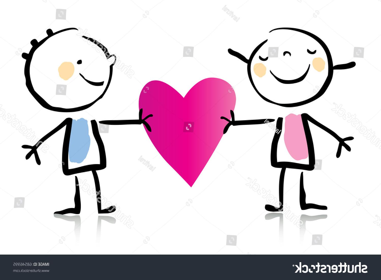 1500x1101 Valentines Day Cartoon Romantic Couple Love Stock Vector