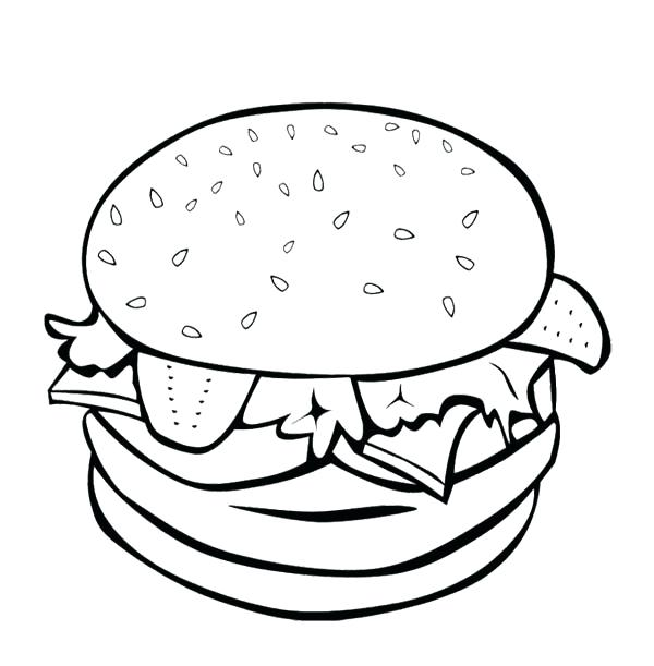 600x611 burger drawing burger mcdonalds for free download