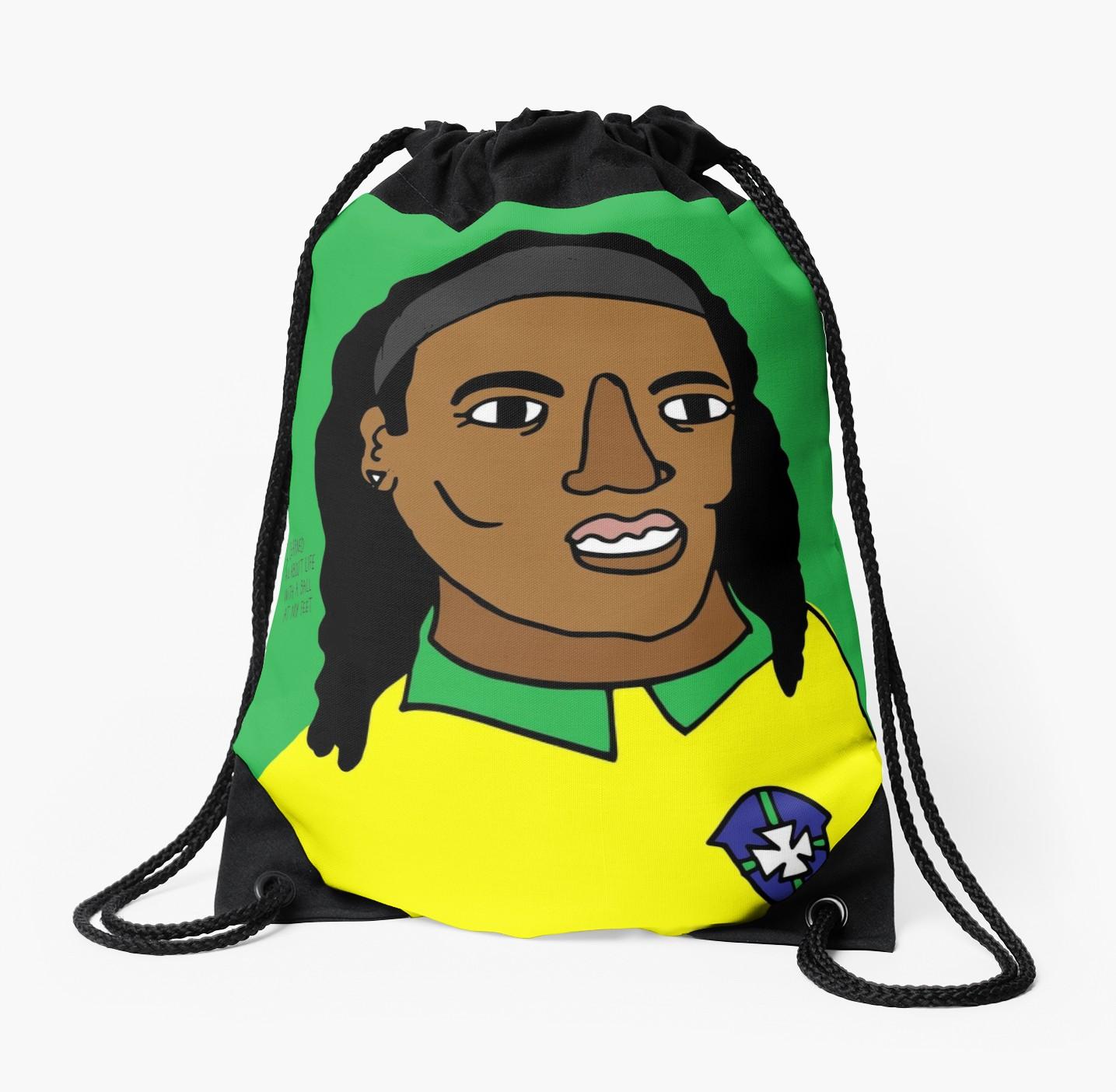 1435x1404 Ronaldinho Brazil Football Ball Life Drawstring Bag