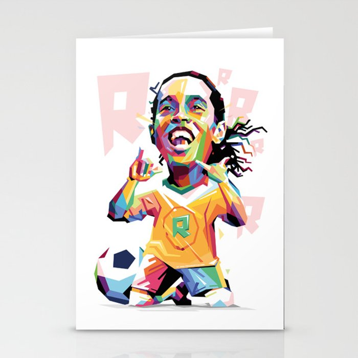 700x700 Ronaldinho Carricature Wpap Stationery Cards