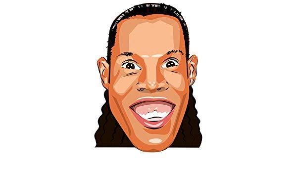 600x350 Ronaldinho Cartoon Celebrity Face Mask Toys Games