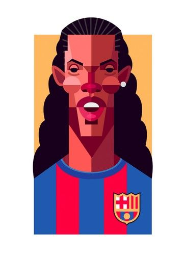 361x498 Ronaldinho Cartoon Drawing Awesome Prints Soccer Art, Football