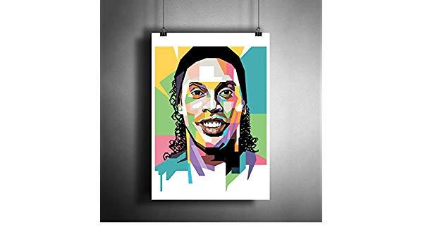 600x350 Ronaldinho Barcelona Milan Football Soccer Art Poster