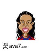 173x173 Ronaldinho Caricatures