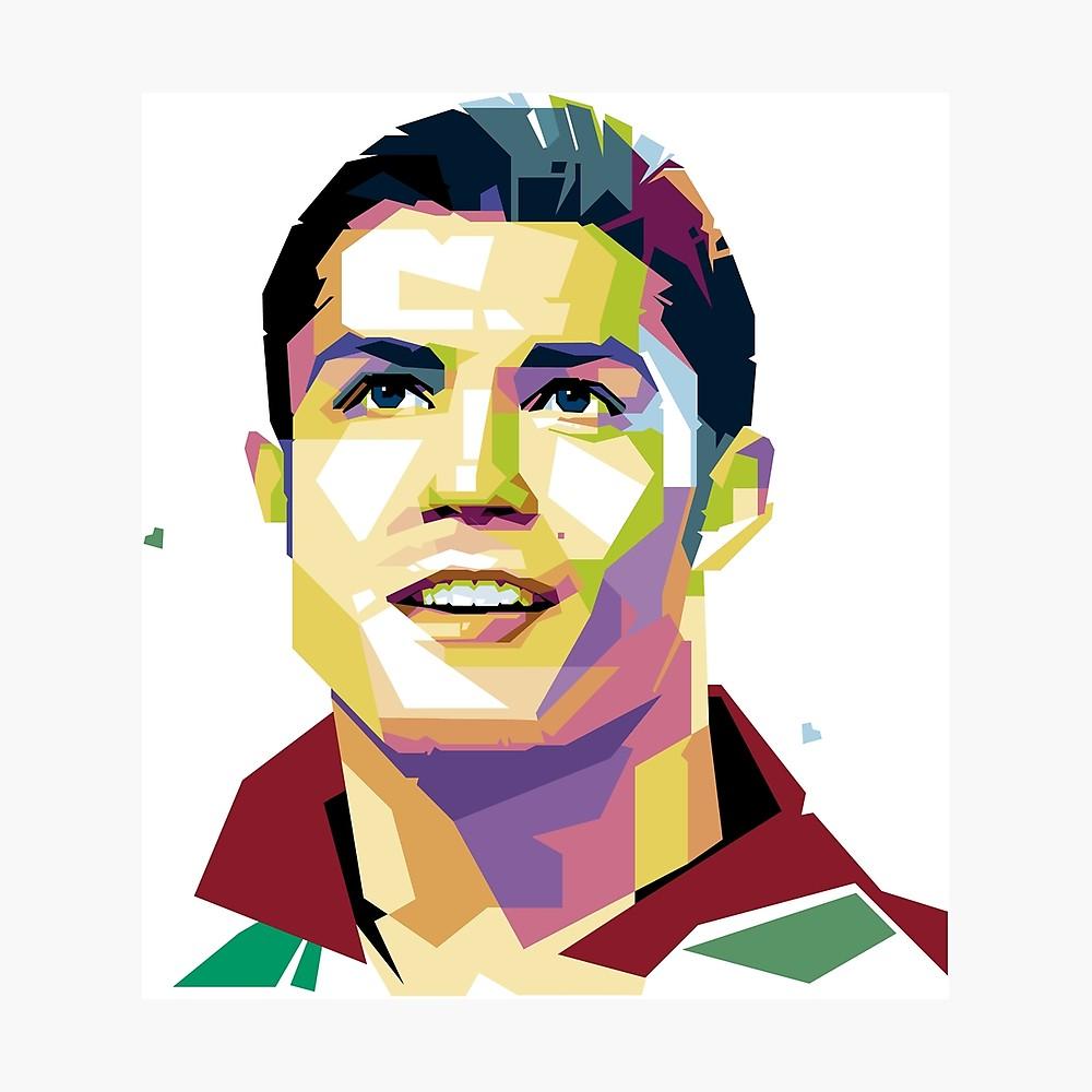 1000x1000 Cristiano Ronaldo Pop Art Photographic Print