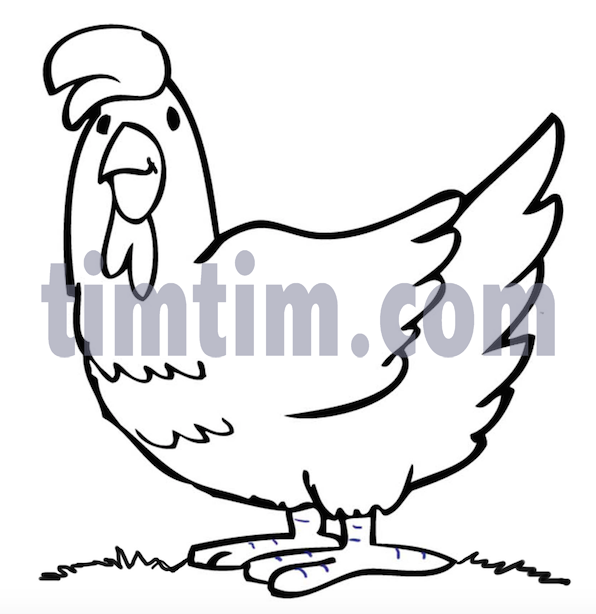 596x614 Rooster, Chicken, Drawing, Transparent Png Image Clipart Free