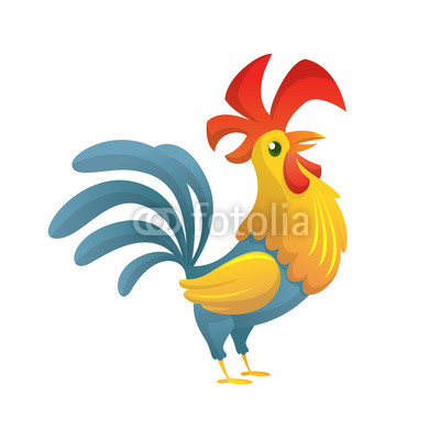 400x400 Rooster Red Crest Drawing Chicken Vector Brown Leghorn Rooster