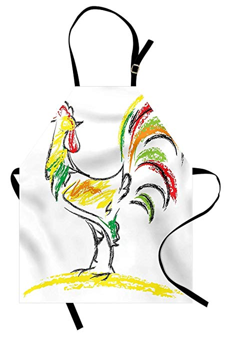 458x679 Gallos Apron Rooster Chicken Tail Farm Animal Oil