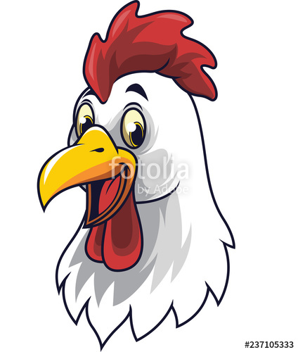 424x500 Cartoon Happy Rooster Smiling Stock Image And Royalty Free Vector