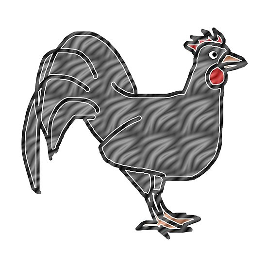 550x550 Gray Rooster Drawing On Different Colorful Backgrounds Posters