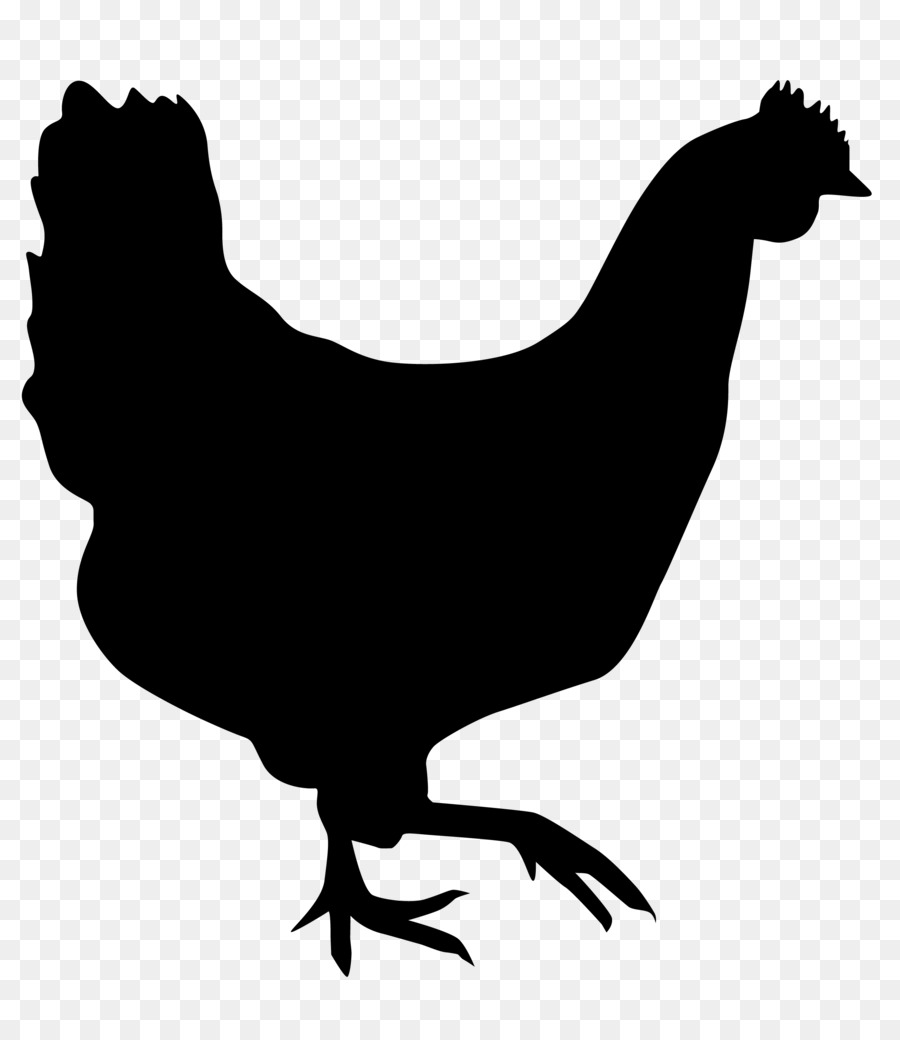 900x1040 Rooster, Silhouette, Drawing, Transparent Png Image Clipart Free