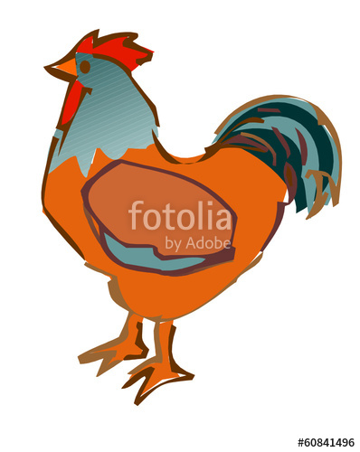 398x500 Rooster Drawing Stock Image And Royalty Free Vector