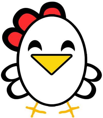 400x458 Easiest Chicken Or Rooster To Draw Ever