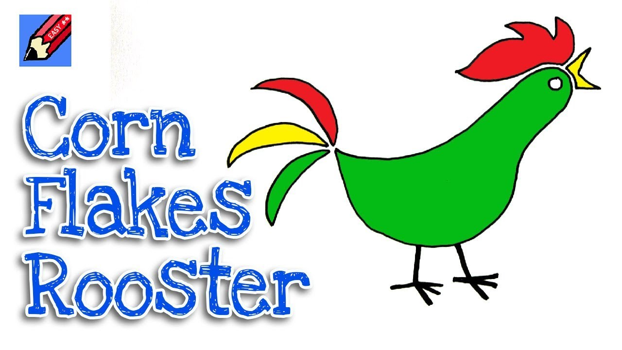 1280x720 How To Draw The Corn Flakes Rooster Real Easy For Kids