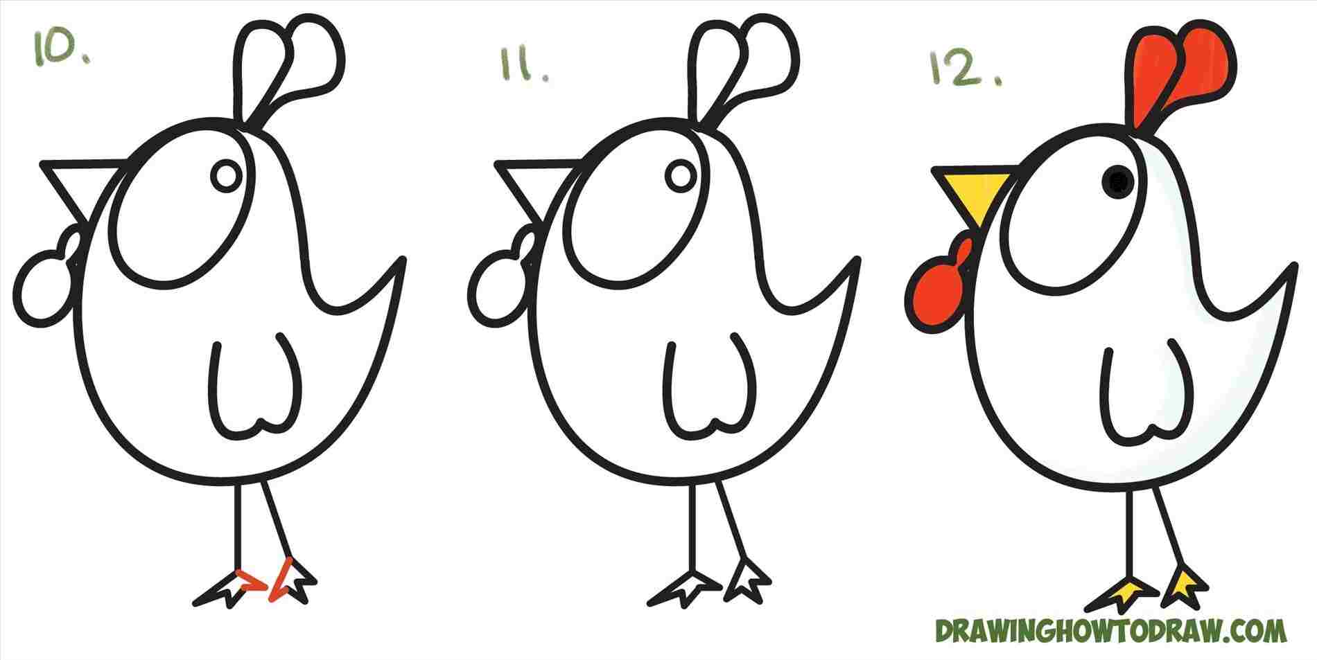 1900x953 Shapes Rooster Drawing Easy For Kids How To Draw A Cartoon Chicken