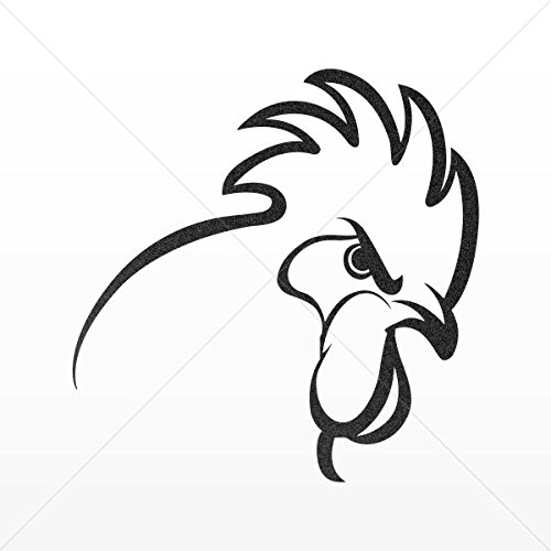 Rooster Head Drawing