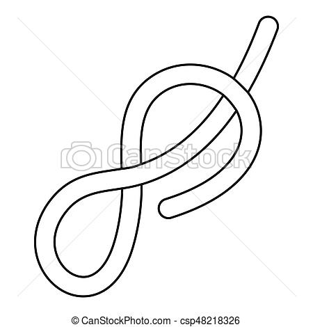 450x470 ship rope icon outline ship rope con flat illustration of ship