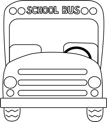 353x400 school bus front black and white school bus school bus art