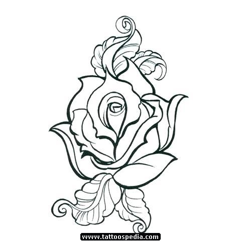 480x480 Rose Drawing Outline Rose Drawing Outline Free