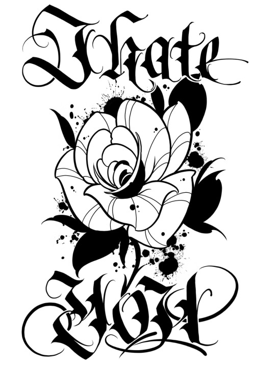 500x714 Rose Line Drawing Clip Art
