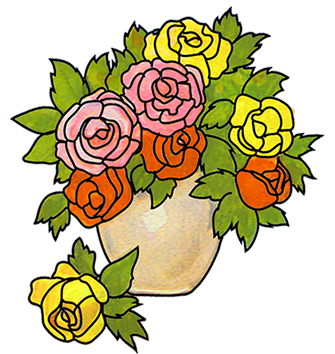 335x354 Bouquet Of Flowers In Vase Clip Art Clipart Collection