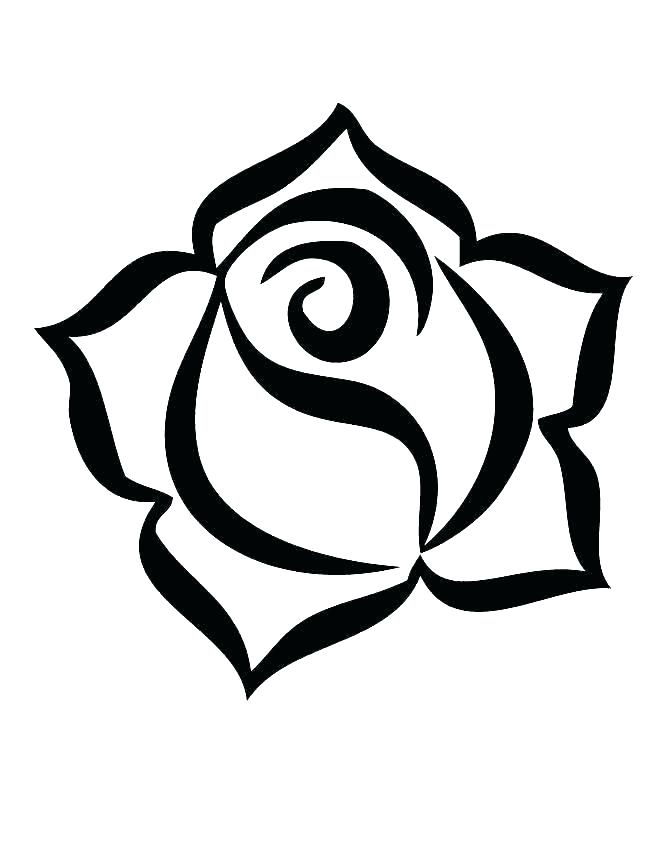 670x867 Rose Coloring Pictures