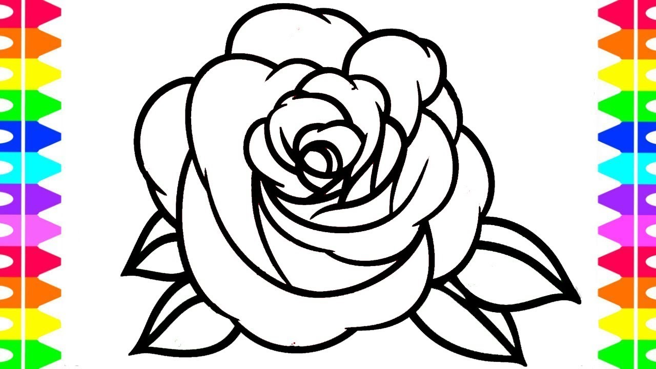 1280x720 Rose Drawing Step