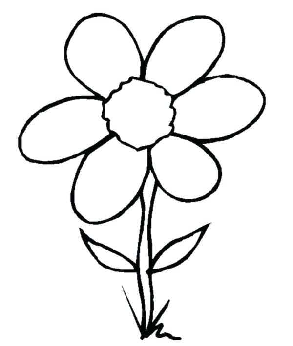 600x710 Coloring Pages Draw A Rose Coloring Pages For Kids