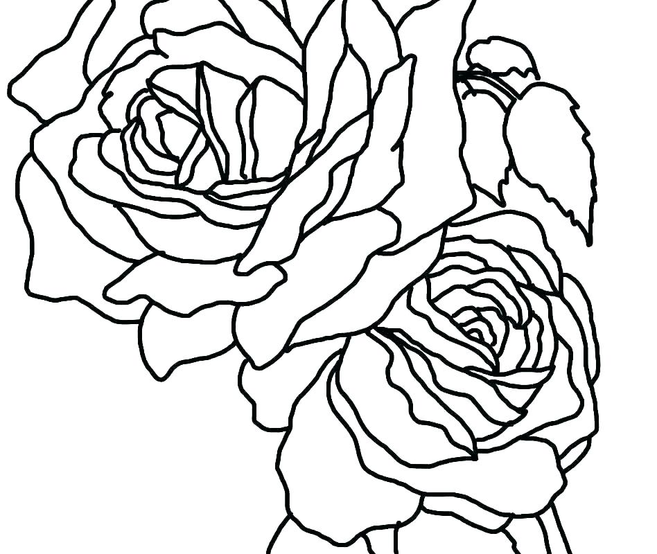 948x800 Coloring Pages Of Roses And Flowers Rose Flower Combined With Art
