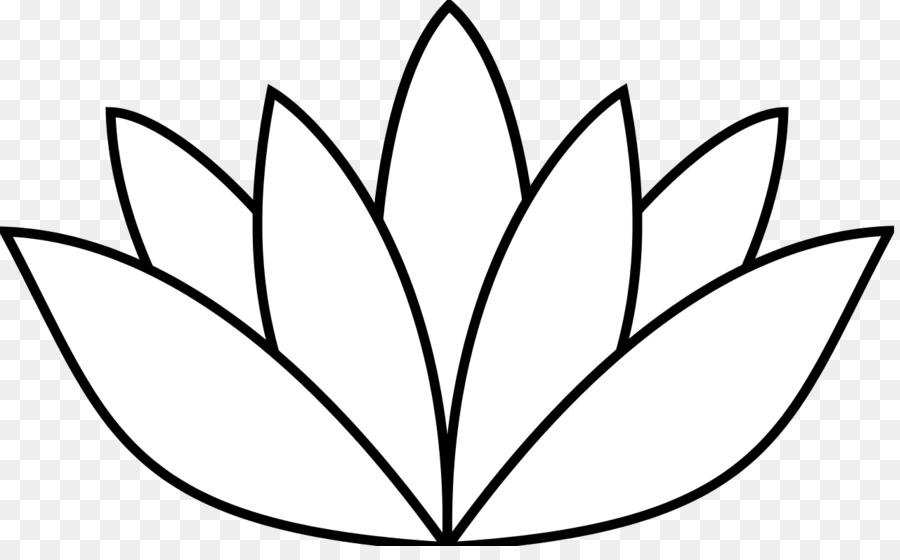 900x560 Nelumbo Nucifera Flower Clip Art Simple Rose Drawings Png Download