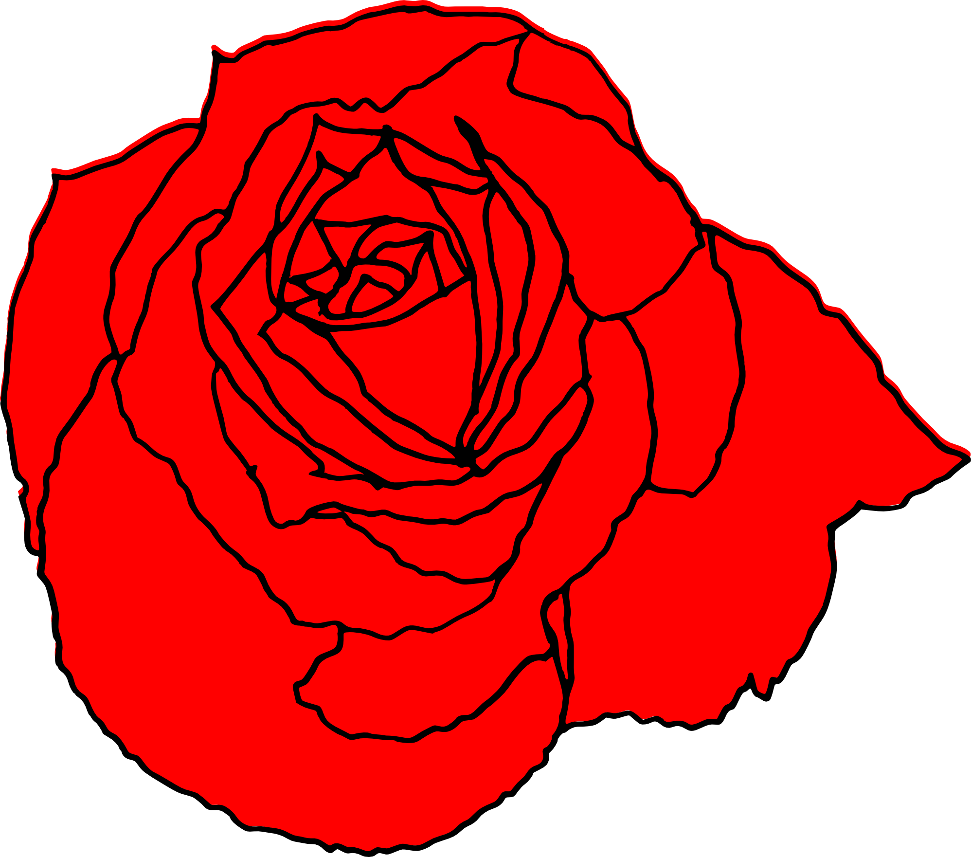 1996x1761 Rose Drawing Transparent Png Clipart Free Download
